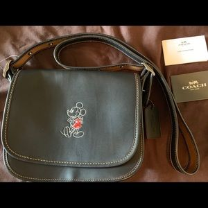 Coach Disney Mickey Mouse Patricia Saddle bag